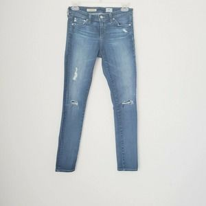 AG Adriano Goldschmied 25R Skinny Distressed Jeans